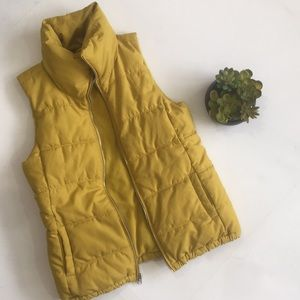 Old Navy Gold Zip Up Puffer Vest